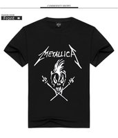 Wholesale Band T Shirt Applique - Europe and the United States METALLICA metal band printing personalized short-sleeved t-shirt men's explosive models JS 017