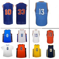 Wholesale High Quality Red Wine - Men's 13# Paul George 0 Russell Westbrook jersey 10 Frazier 33 Patrick Ewing retro High quality 100% Stitched Embroidery Jerseys