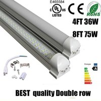 Wholesale Led 48w - best quality T8 Integrated Double row led tube 1.2m 240led 4ft 36w 48w 288led   8ft 75w SMD2835 led tubes Light led lighting fluorescent