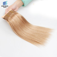 Wholesale Soft Wave Brazilian Hair Weave - Color 27 Honey Blonde Brazilian Remy Hair Extensions Silk Straight Body Wave Deep Curly Soft Full Quality Brazilian Human Hair Weave Bundles