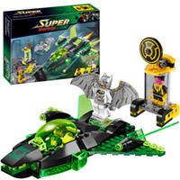 Wholesale Decool Hero Batman Green - Decool 7109 Super Heroes Batman Green Lantern vs. Sinestro building Blocks Bricks Toys for children Boy Game Lepin Bela 76025