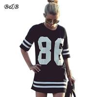 Wholesale Wholesale Oversized Shirts - Wholesale-Tee Summer Women Celebrity 86 Oversized Tops Short Sleeve Loose Casual Long t-shirt