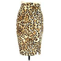 Wholesale Ladies Leopard Print Skirts - 2017 New Fashion Summer Women Vintage pencil skirt leopard print High Waist Ladies Sexy short skirts Womens faldas mujer