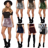 Wholesale Tutu Woman S Skirt - Ladies Fashion Tutu Mini Lace Up Suede Leather Women Skirt 90's Vintage Preppy Short High Waist Casual Skirts Womens