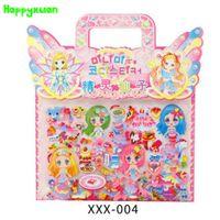 Wholesale Character Notebook - Happyxuan 6pcs pack Fairy Dress Up Girl Sticker Princess Cartoon Character Mermaid Bubble Kids Toys XXX Series