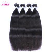 Wholesale Brazilian Remy Hair 5pcs - Virgin Brazilian Hair Weave Bundles Peruvian Malaysian Indian Virgin Hair Straight Cheap Brazillian Remy Human Hair Extensions 3 4 5Pcs Lot
