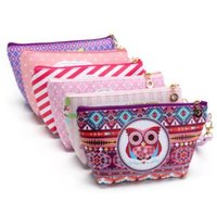 PU owl cosmetic bag - 6 Colors Candy Color Cases Travel Makeup Bags Women s Cosmetic Bag Pouch Clutch Handbag Hanging Jewelry Casual Owl Purse CCA6933