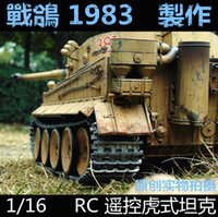 Wholesale Tiger Tank Rc 16 - Wholesale- KNL HOBBY HENGLONG 1 16 Tiger RC tank model remote control OEM heavy coating of paint to do the old upgrade