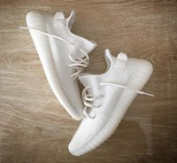 Wholesale Shoes Color Red - SPLY-350 Cream White Boost V2 New Kanye West Boost 350 V2 SPLY Running Shoes Beluga Triple White Zebra Bred Black Red 10 Color