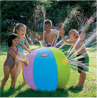 Wholesale Children Water Inflatable - Summer Inflatable Water spray balloon Outdoors Play in the water Beach ball Children toy ball