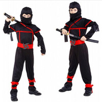 Wholesale Party Supplies Ninja - Q228 Classic Halloween Costumes Cosplay Costume Martial Arts Ninja Costumes For Kids Fancy Party Decorations Supplies Uniforms