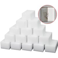 Wholesale New White Magic Melamine Sponge mm Cleaning Eraser Multi functional Sponge Without Packing Bag Household Cleaning Tools