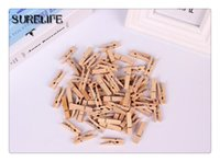 500 pezzi Mini in legno di carta fotografica Peg Clothespin lavanderia appendiabiti Wedding Party Natural Clip 2.5cm