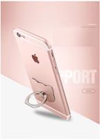 cep telefonları için elma çıkartmaları toptan satış-Telefon halka halka metal band elmas yüzük toka geri çıkartmalar tembel cep telefonu çerçevesi karikatür stent
