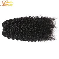 işlenmemiş insan saçı doğal dalgalı toptan satış-7a Sınıfı İşlenmemiş İnsan Saç 4 Paketler Brezilyalı Derin Kıvırcık İnsan Saç Çift Atkı İnsan Saç Derin Dalga Dalgalı Doğal renk # 1B