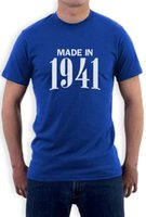 Made in 1941 Retro idea regalo di compleanno 75th Cool T-Shirt Bday Present 2017 vendita calda Super Fashion Men manica corta Tee
