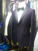 Wholesale custom measurements - Purple Jacket 2018 Men's Suits Custom Made Factory Directly Sell Made To Measurements Maile Wedding Suits For Groom