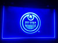 Wholesale Hockey Neon Light - B-215 Edmonton-Oilers Hockey Giftbeer bar pub club 3d signs led neon light sign home decor crafts