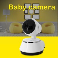 Wholesale Wholesale Ptz Cameras - best cctv sd card camera 64gb hd ip surveillance cheap ptz home guard security wifi robot baby monitoring camera
