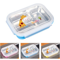 Wholesale 304 Stainless Steel Lunch Boxs Containers With Compartments Bento Box For Children Kids Picnic Food Container
