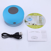 Wholesale Bluetooth Speakers Blue Box - Mini speakers bluetooth portable Subwoofer Shower music Waterproof Wireless Bluetooth receiver Handsfree call bluetooth speakers