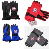 Wholesale Wholesale Sporting Gloves - Canada Unisex Finger Gloves Goose Winter Windproof Warm Gloves Outdoor Riding Skiiing Cycling Sports Gloves for Men and Women