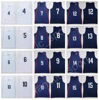 Wholesale Basketball Jersey Usa - 2016 USA Basketball Jerseys Twelve Team 9 DeMar DeRozan 12 DeMarcus Cousins 6 LeBron James 5 Kevin Durant 2 Kawhi Leonard with player name