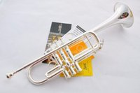 Wholesale Bach C Trumpet - 11.11 Top selling Silver Bach trumpet B LT197GS-96 professional performance level Musical Instruments Free shipping