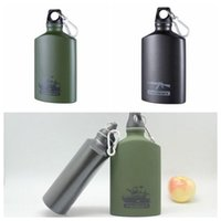 Metal blue bottle liquors - Creative ml Whiskey Flask Wine Bottle Stainless Steel Liquor Bottle Portable Outdoor Sports Bottle With Carabiner CCA6438