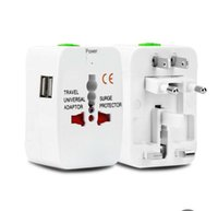 adapterkonverter dock großhandel-Alles in einem Universal International Stecker Adapter 2 USB Port World Travel Netzteil Ladegerät Adapter mit AU US UK EU Konverter Stecker