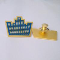 rodyum kafa pimi toptan satış-Sıcak Satış Özelleştirilmiş Metal Yeni Logo Rozetleri / Metal / Düğme / Pin / Kalay / Polis / Askeri / Amblem / Emaye / Madalya Rozet / müşteri pin