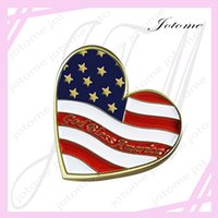 bless flag - 100PCS Newest design China Patriotic Heart Shaped American Flag God Bless America Lap