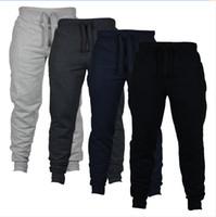 calças longas de camuflagem venda por atacado-Jogger Calças Chinos Skinny Joggers Camuflagem Homens Nova Moda Harem Pants Longo Calças De Cor Sólida Calças Dos Homens