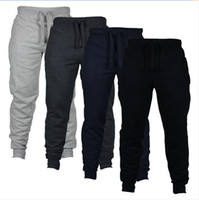 yeni erkek pantolon toptan satış-Jogger Pantolon Chinos Sıska Joggers Kamuflaj Erkekler Yeni Moda Harem Pantolon Uzun Düz Renk Pantolon Erkekler Pantolon