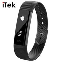 Wholesale Heart Rate Monitor For Iphone - ID115 HR Smart Bracelet Activity Fitness Tracker Heart Rate Monitor Band Alarm Vibration Wristband for iphone Android pk fitbits