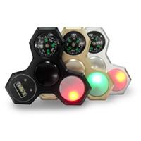 yapboz oyunları toptan satış-3 renk LED Pusula İzle alüminyum alaşım dekompresyon bulmaca El spinner, anksiyete, dekompresyon, bulmaca rahatlatmak için yardımcı olur