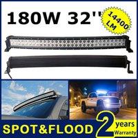 32 pouces 180W Super Bright LED Offroad Light Bar Curved LED Work Light Bar Spot Flood Combo Beam Car Boat Truck Jeep 4x4 ATV Lampe