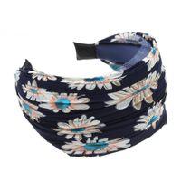 Wholesale Wide Hair Extensions - Woman headdress hair SYB NEW Womens Girls Cloth Wide Headband Hair Head Band Navy Blue Gift