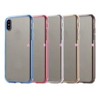 Acrylique Shockproof Hard Plastic + Soft TPU Hybrid Case pour Iphone X IphoneX 5.8inch Dual Color Cell Phone Clear Gel Cover Forme Retour Skin