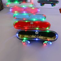 Wholesale Dhl Free Shipping Bluetooth Speaker - 2016 Newest gift Skateboard Bluetooth Wireless scooter Speaker Mobile Audio Mini Portable Speakers with Led Light Free DHL Shipping