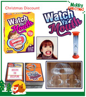 Wholesale Family Christmas Cards - Best Christmas Celebration 20set Party Game Board Game Watch Ya Mouth Game 200cards 10 mouthopeners Family Edition Hilarious Mouth Guard