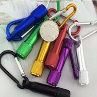 Wholesale Mini Carabiner Camp - CRESTECH keychain flashlights led Aluminum Alloy body with Carabiner Ring sports mini flashlight keychain free shipping DHL