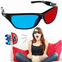 Wholesale Red Blue Anaglyph - New Classical Black Frame 3D Glasses Red And Blue Lens Virtual Reality For XGIMI Universal Video Movie Games Pictures Anaglyph Style