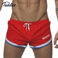 Wholesale Cargo Mens Wholesale - Wholesale-SEOBEAN Brand Sexy Men Boxers Trunks Casual Workout Cargos Man Fitness Gasp Active Sweatpants Mens Jogger Bottoms Beach Shorts