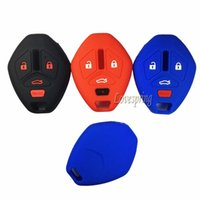 Wholesale Mitsubishi Lancer Key - 4 Buttons Silicone Key Fob Remote Cover Case Holder Protector Shell Skin For MITSUBISHI Galant Lancer Outlander Eclipse