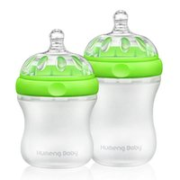 Wholesale 2017 New Arrival High Quality Kumeng Baby Extra Wide Neck Silicone Baby Feeding Bottle mL mL