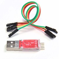 Wholesale Ttl Pin - Wholesale-USB 2.0 to TTL UART 5 PIN Module Serial Converter CP2102 STC PRGMR Free Cable