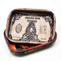 2017 venda quente RAW Bob Marley Rolling Tray Metal Tabaco Rolling Tray Travel Handroller Roll Trays Machine Tools fumar accessorie
