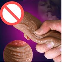 productos sexuales al por mayor-Super realista silicona suave consolador extremo grande realista consolador robusto ventosa pene Dick Dong producto del sexo para mujeres juguetes sexuales
