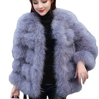 Wholesale Warm Elegant Wool Coats - 2017 autumn winter top clothe fur coat real ostrich wool turkey feather coat shearling women jacket elegant fashion luxury